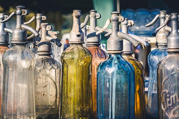 Vieilles bouteilles en verre