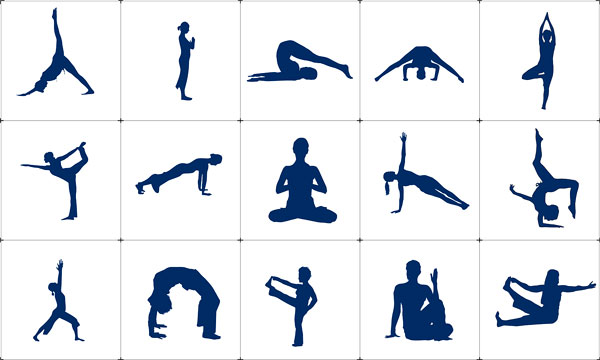 Carte des positions yoga