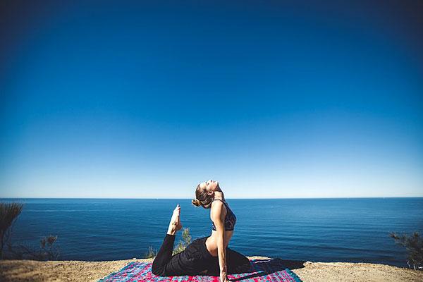 Yoga bord de mer
